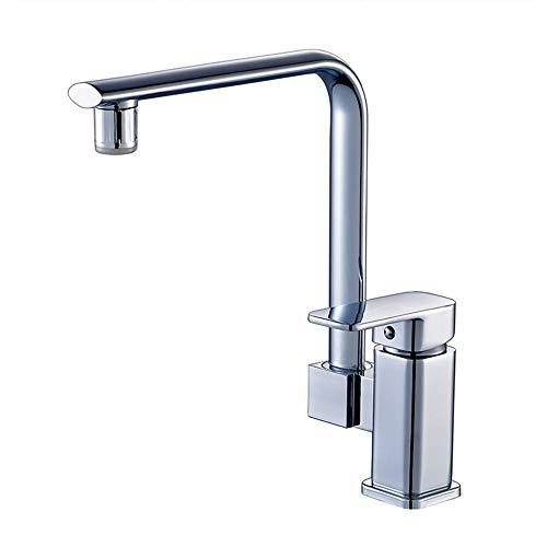 Tan Led Küchenarmatur Einzigen Griff 360 Grad Swivel Sink Temperatursensor Farbmischbatterie Messing Chrom