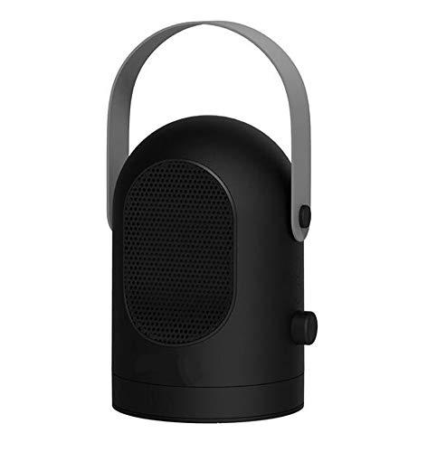 JQMJ Mini Electric Heizlüfter Tragbaren Heizkörper, Warm + Kalt Dual-Use-Silent-Keramik-Heizung, Desktop Home Office Verwenden,Black