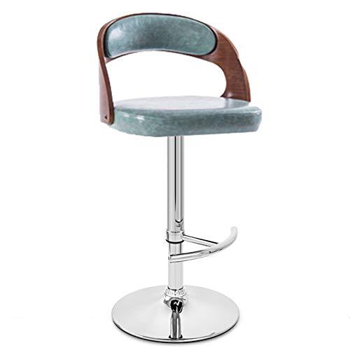 ATR Swivel Europäischen Stil Vintage Barhocker, Mit rücken Moderne Einfache Einstellbare Synthetische Pu-Leder Kreative Bar Stuhl Für Bar Home Wohnzimmer Büro-F -