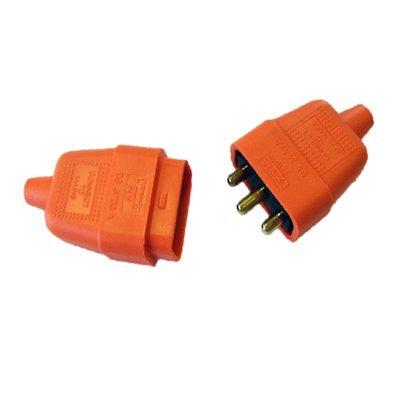 3-pin-rubber-connector-10a-in-line-garden-lawnmower-orange