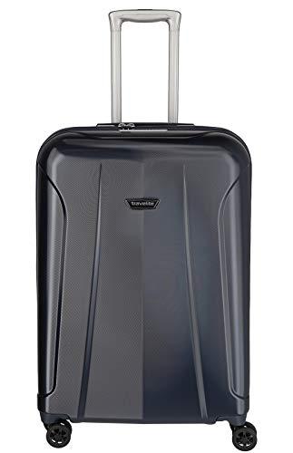 """Travelite Rollkoffer-Set: Klassisch-elegante, robuste Hartschalenkoffer """"Elbe"""" in vielen Größen und Farben Koffer, 71 cm, 78 Liter, Marine"""