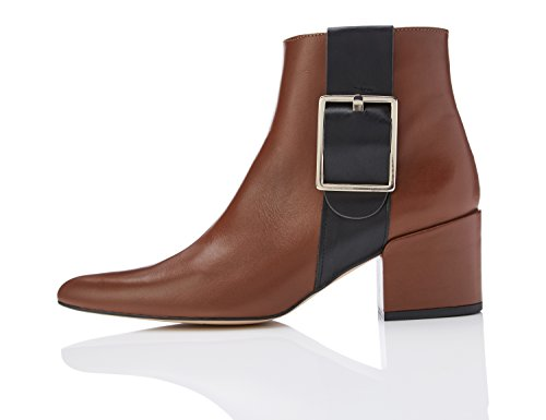 FIND Stivaletto Chelsea Donna Marrone (Tan)