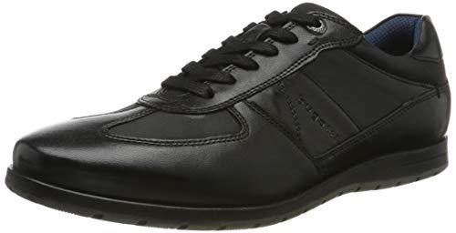 bugatti Herren 313140014069 Sneaker, Schwarz Black 1010, 43 EU (Casual Herren Schwarz Schuhe)