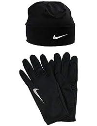 Nike Dry Hat Glove Gorro Y Guantes, Sin género, Negro, Talla Única