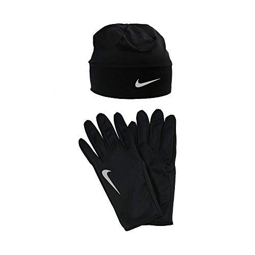 Nike Herren Dry Mütze und Handschuh Set Mütze&hanschuh, schwarz/Silber, L/XL