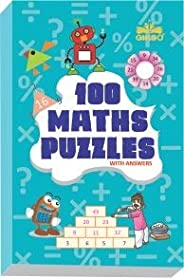 GIKSO 100 Maths Puzzles Book - Brain Boosting Mathematical Activities for Age 7+ Years Old Kids | Game Book (E