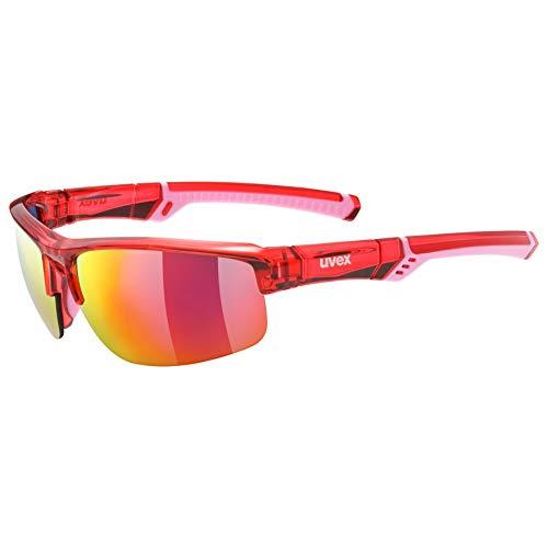 Uvex Erwachsene Sportstyle 226 Sportbrille, rot, One Size