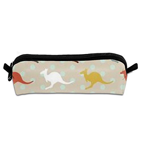Kangaroo Australia Student Pencil Pen Case Zipper Pouch Small Cosmetic Makeup Bag Coin Purse For Kids Teens And Other School Supplies