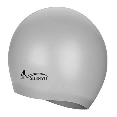 hte Silikon-Badekappe Ohr schützen Badekappen Hut-Abdeckung für Erwachsene Kinder Kinder ()