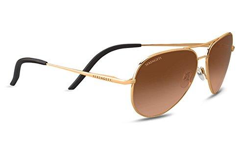 Serengeti Eyewear Erwachsene Carrara S Sonnenbrille, Shiny Bold Gold, Small