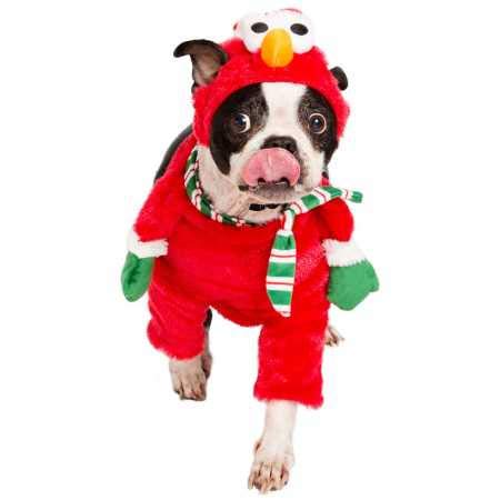 Pet Krewe PK00401S Sesamstrasse Santa Elmo Walking-Kostüm, Größe - Sesamstraße Hunde Kostüm