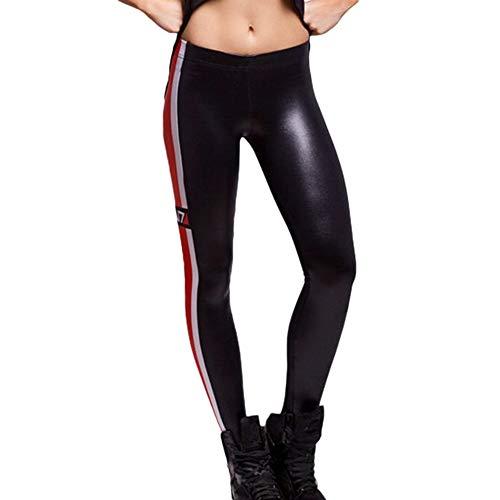 MAOYYMYJK Leggings de Mujer con Efecto masivo Estampado de Cintura Alta Punk Rock Harajuku Push Up Plus Size Fitness Slim Leggins Trouser