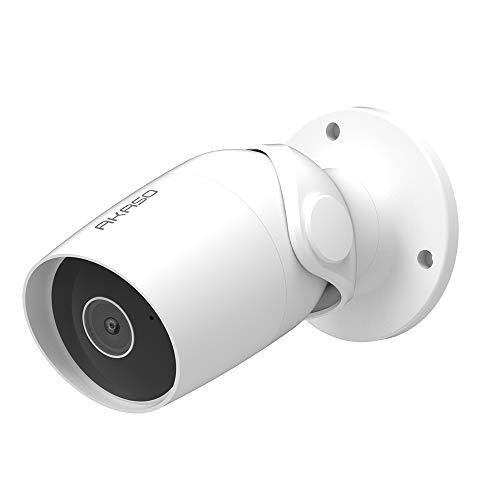 AKASO B60 Smart Outdoor Überwachungskamera WiFi IP Kamera, Alexa, Google Home, Fire TV kompatibel, IP65 wasserdicht, Zweiwege-Audio, Fernzugriff, Bewegungserkennung, Karten- / Cloud-Speicher