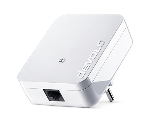 devolo dLAN 1000 Mini Powerline-Adapter (1000Mbit/s per Powerline-Verbindung, Internet über die Steckdose, 1x LAN-Anschluss, PowerLAN, PLC Netzwerkadapter, Kompaktgehäuse), weiß