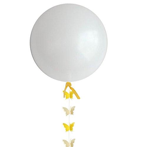 J.Idea 36inch Ballon Riesige weiße Ballons Gelb Schmetterling Papier Girlande Für Party/Geburtstag/Hochzeit/Valentinstag/, Event & Party Supplies