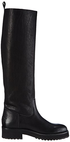 Shabbies Amsterdam Shabbies 45cm highboot New Poro sole Pointy Lois, Stivali donna Nero (Schwarz (Black 002))