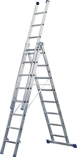 ILLER-LEITER Geis&Knoblauch Alu-Mehrzweckleiter 3-TLG. 53014 3x14 Stufen Sprossenleiter 4039665012031
