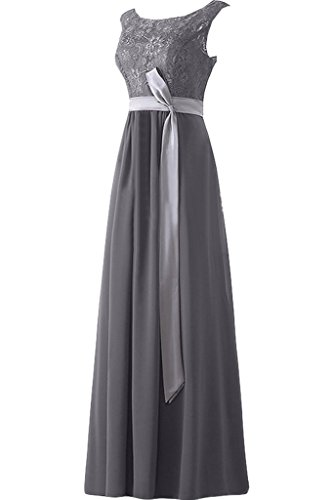 Donna Ivydressing punta, & Chiffon A-linea cintura da Bete dell'abito un'ampia dell'abito festa vestito da sera Grau