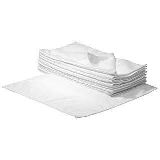 SBS Mikrofaser-Reinigungstücher - 40 x 40 cm - Weiß - 10 Stück