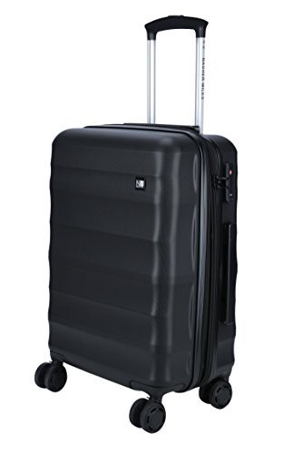 Nasher Miles Rome Expander| Hard Side Cabin Luggage| Black 20 Inch/55CM Trolley/Travel/Tourist Bag