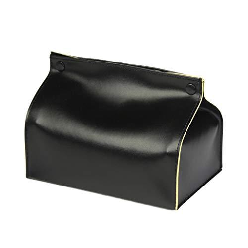 Xiaoyu Tissue-Box, Taschentuch Kosmetiktücherbox Gesichtstuch Tablett Flach Serviette Halter Bad Schminktisch Tissue-Spender Rechteckige Leder Kosmetiktuch Taschentuchbox Kosmetiktücherbox