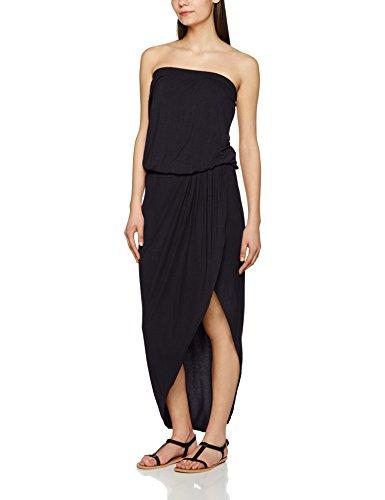 Urban Classics TB1508 Damen Kleid Ladies Viscose Bandeau Dress, Midi, Gr. Small, Schwarz (black 7)