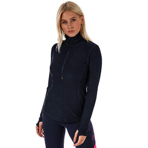 Half Zip Knit Top (New Balance Damen in Transit Half Zip Top L Pigment Heather)