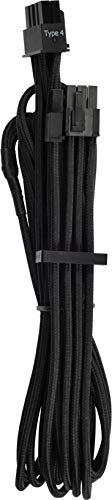 Corsair Premium Sleeved Netzteil 6+2-Polig-PCIe-Single-Kabel Typ4 (Generation 4-Serie) schwarz -
