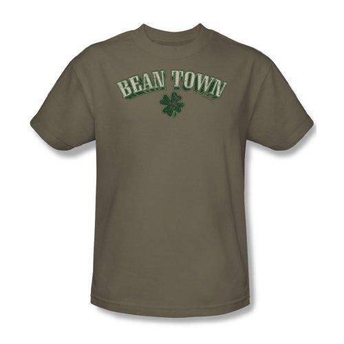 Bean Town, per adulti, modello Safari, colore: verde, S/S-T-Shirt da uomo Safari Green
