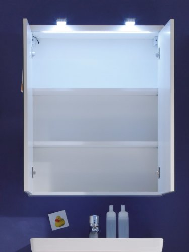 Trendteam Badezimmerspiegelschrank Weiß - 4