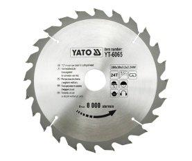 YATO YT-6065 - TCT HOJA DE MADERA 200X24X30MM