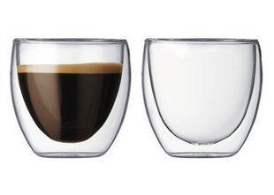 Rink Drink Lot de 2 tasses à café/thé à double paroi 88 ml