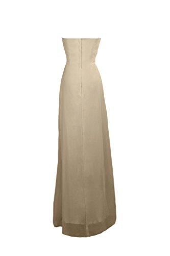 Sunvary elegante Chiffon A-line lega, per abiti da sera o da cerimonia, con diamanti Champagne