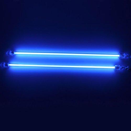 HOTSYSTEM 2x 30cm Auto KFZ Innenbeleuchtung Fußraumbeleuchtung Neonröhren Blau (Cd-kennzeichen-licht-lampe)