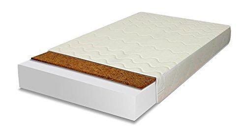 Best For You BESONDERE Schaumstoffmatratze KOKOS Naturkokosplatten mit TÜV ZERTIFIZIERT Matratze Kinderbettmatratze 15 Größen von 60x120x10 cm bis 200x200x10 cm mit Reißverschluss (90x200)
