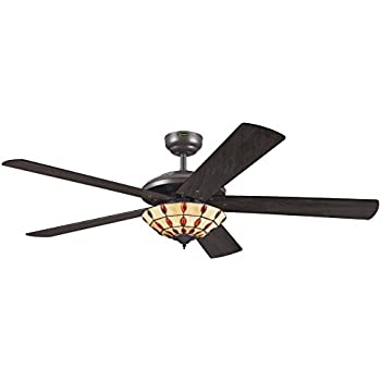 Westinghouse comet tiffany ceiling fan espresso amazon westinghouse comet tiffany ceiling fan espresso aloadofball