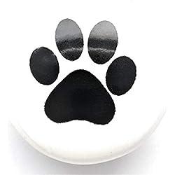 Set von 6Keramik Schrank Knöpfe–Dog Paw Print–Küche Schrank Knöpfe, Möbel Schubladen, Griff, Schlafzimmer-Möbel Griffe, Pull Knauf & Schranktüren Türklinke 96,5cm mm von französischen Möbel FI