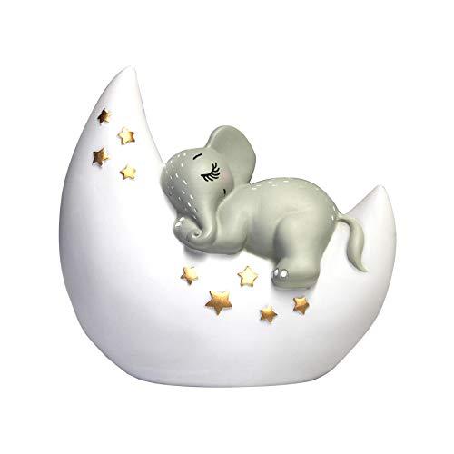 Lamparilla de noche Mini lámpara LED elefante para habitaciones infantiles, luz para dormir, lámpara de mesa, 12,5 x 13 x 6.