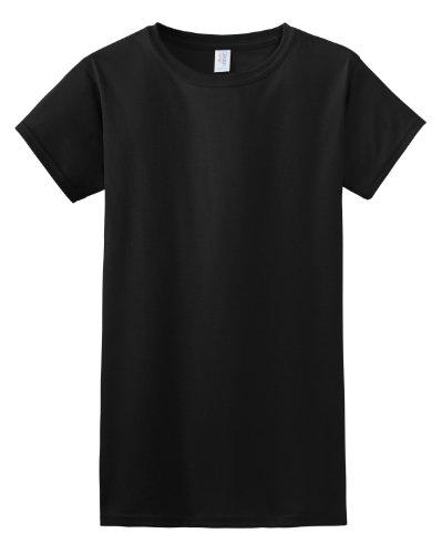T-shirt à manches courtes Gildan pour femme Noir