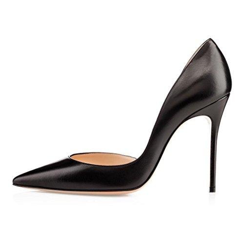 EDEFS - Scarpe Donna Tacco - Classiche Scarpe col Tacco - Taglia Grossa Scarpe Nero