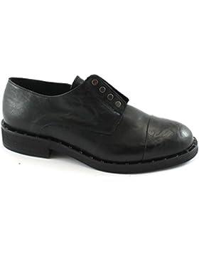 Divine Follie 27611 nero scarpe donna francesina elastico puntale