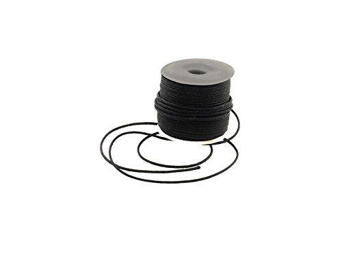 Creative-Beads Baumwollschnur gewachst, schwarz, 1.5mm 25m Rolle, Armband, Ketten etc, selber machen, basteln, dekorieren, -