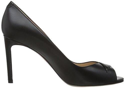 HUGO Damen Ballet 10191387 01 Pumps Schwarz (Black 001)