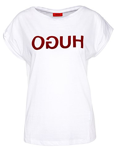 HUGO T-Shirt Dennalis 50373559 Damen Weiß