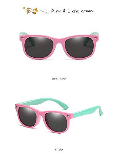 Jeewly Klassische Sportsonnenbrille, Kids Sunglasses Children Polarized Lenses Glasses Girls Boys Silicone UV400 Child Mirror Baby Eyewear Gafas KPR01