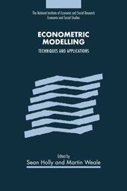 Econometric Modelling: Techniques and Applications (National Institute of Economic and Social Research Economic and Social Studies)