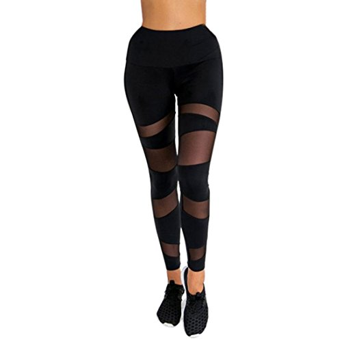 Damen Sporthose Yoga, Manadlian Frauen Schwarz Sport Yoga Fitnessraum Fitness Übung Solide Skinny Gestreiften Ankle-Länge hohe Taille Knöchel-Länge Casual Style Sportliche Hosen (M, Schwarz) (Hosen Gestrickte Sportlich)