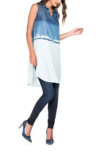 Salsa Chemise Denim Tramé Longue - Femme Bleu