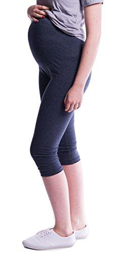 Oasi - Leggins cosechados 3/4 de maternidad Buena calidad 95% Algodon 3082 (EU 40, Jeans)