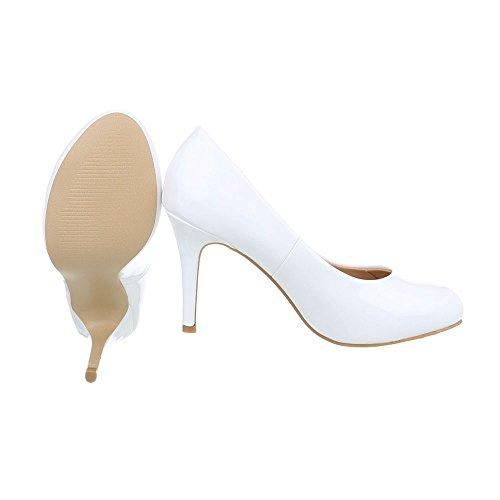 Spillo Donna Bianco Scarpe Design Scarpe Ital Scarpe Tacco Tacco Col a Alto Tacco da con xqZBwtFz